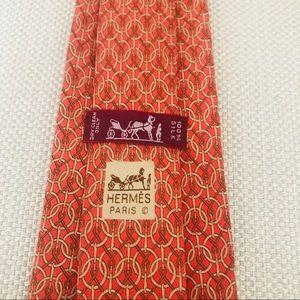 Hermès Silk Tie: Brunnian Circles & Knots Print